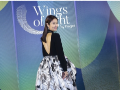 林心如现身出席某珠宝品牌活动 当天她穿着黑色深V露背裙惊艳亮相
